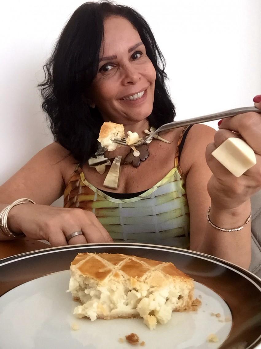 TORTA DE PALMITO COM MASSA PODRE